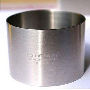 EMPORTE-PIÈCE  Cercle à pâtisserie rond en inox - ht 4.5 cm ø 8cm