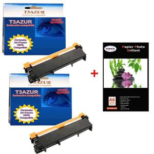 TONER Lot de 2 Toner compatibles Brother DCP-L2500 / L25