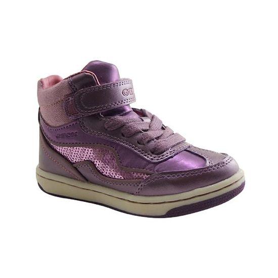 GEOX Enfants-J CREAMY D-BASKET LACET-VIOLET Violet Violet - Achat   Vente  basket - Black Friday le 22 11 à 18h Cdiscount 822b4e9cc587