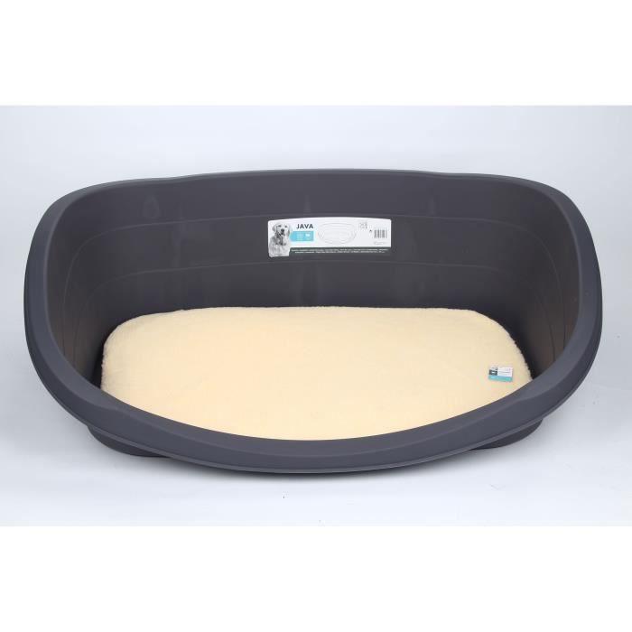 MPETS Corbeille Java en plastique S - Marron - Pour chien