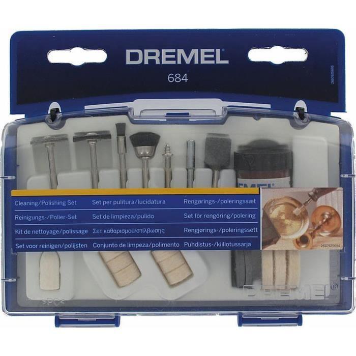 DREMEL Kit nettoyage/polissage de 20 pièces 684