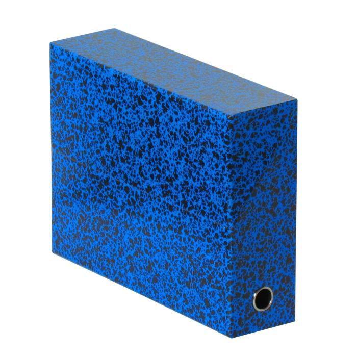 FAST Boite de transfert - Dos 9 cm - 34x25,5 cm - Décor marbre - Bleu