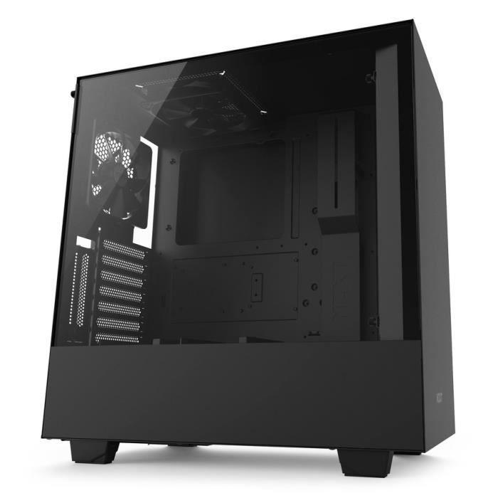 NZXT Boîtier PC Smart H500i - ATX - Smart Device - Panneau en verre trempé - Noir