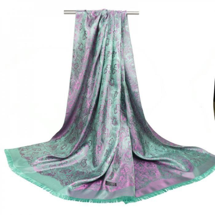 Foulards - écharpe - Soie Femmes ModeLuxe Marque Sjaaltjes Paisley ... e96fe0c43c5