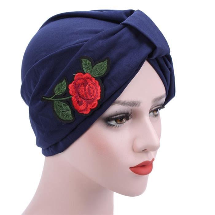 ... chapeau bonnet écharpe turban tête Wrap Casquette YXP70607650NY. CASQUETTE  Femmes musulmanes de broderie de cancer de chimio 52b2ace8e35