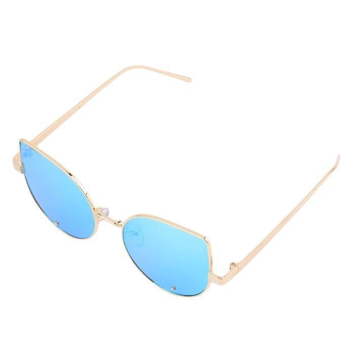 YKS fashion Beat Street lafflux de petits chantiers féminins lunettes de soleil lunettes à montures or feuille bleue de glace de