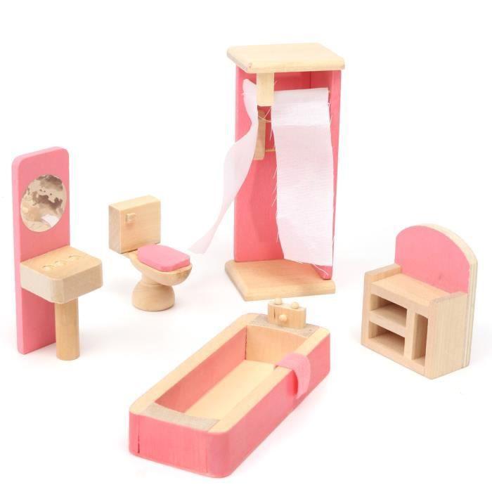meuble poup e mobilier maison d ette bois jouet enfant. Black Bedroom Furniture Sets. Home Design Ideas