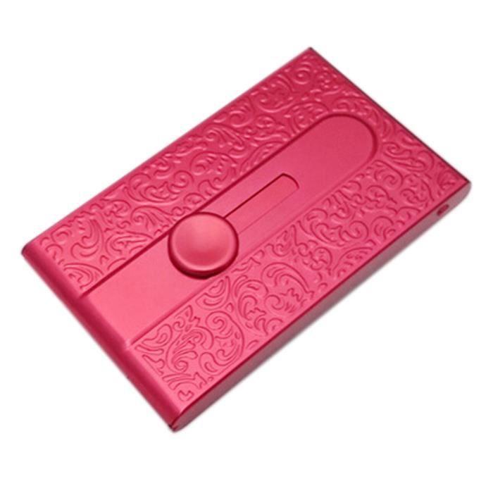Motif Sculpt Porte Cartes Nom Carte De Visite En Mtal Rouge