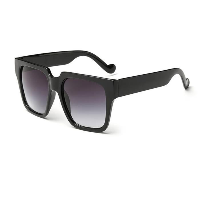 lunettes de soleil- Unisex- carrées De plein air UV400 verre- noir double gris