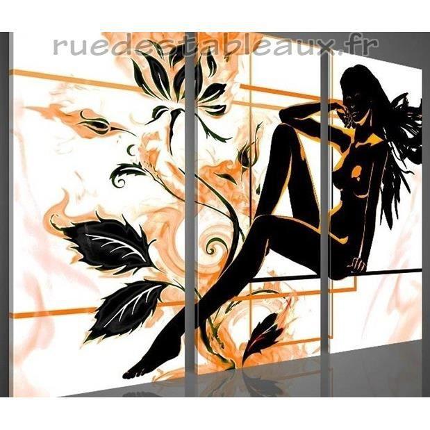 une fleur parmi les fleurs tableau peint main achat vente tableau toile bois toile. Black Bedroom Furniture Sets. Home Design Ideas