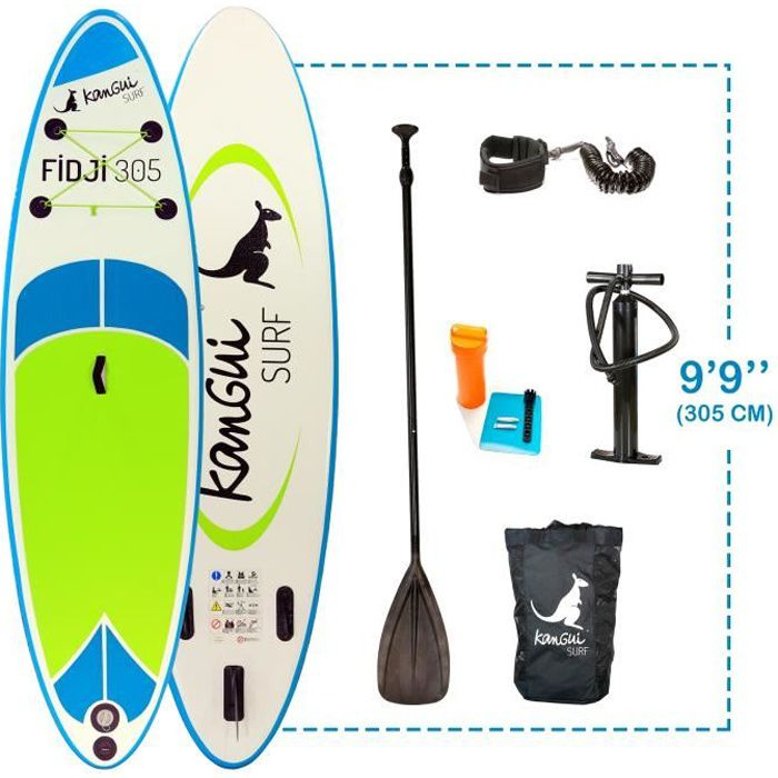 STAND UP PADDLE KANGUI Pack Paddle Gonflable FIDJI 305cm