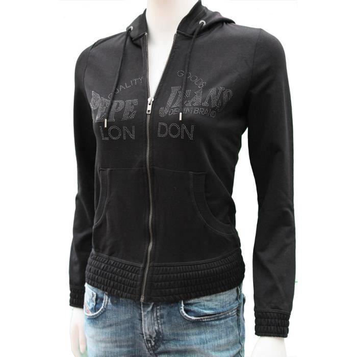 Zippée Achat Veste Femme Sweatshirt Vente Pepe Jeans Sweat qpw7xWRT