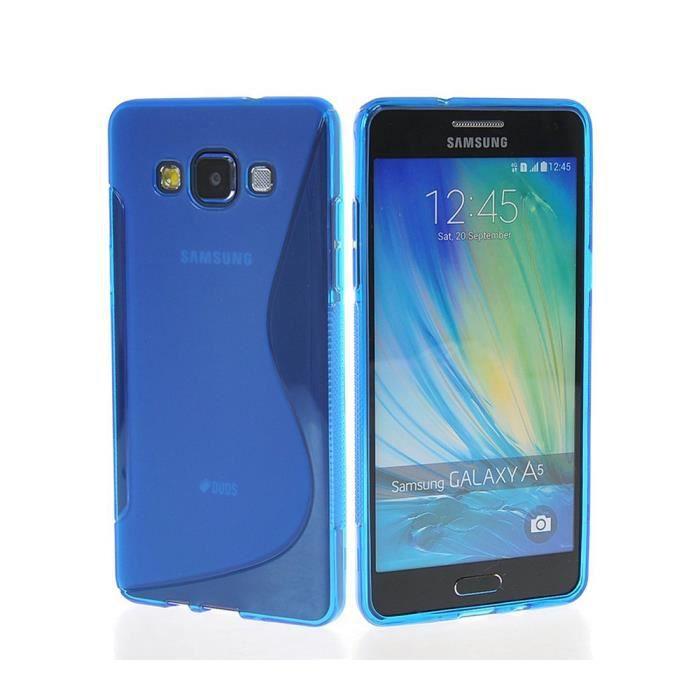 coque samsung a5 bleu