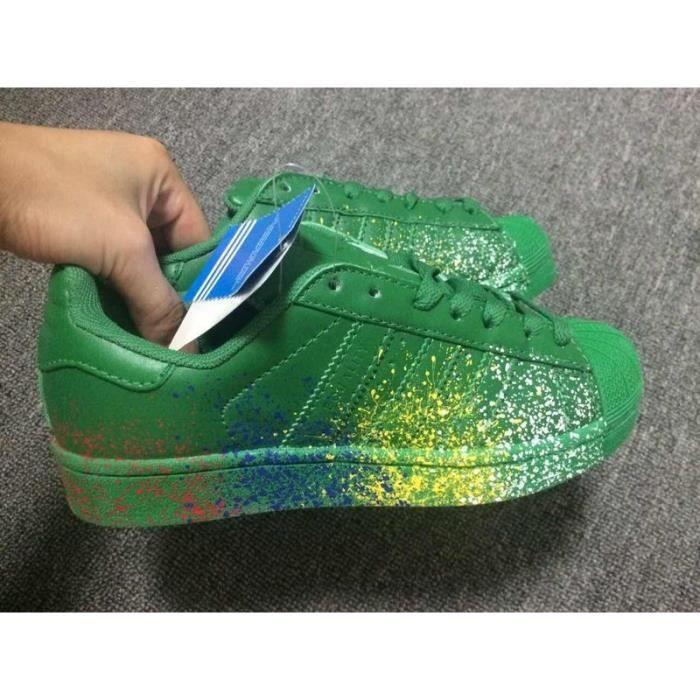 Chaussures Originals Ciel Vert Jet À Adidas Arc En Baskets D'encre H29EID
