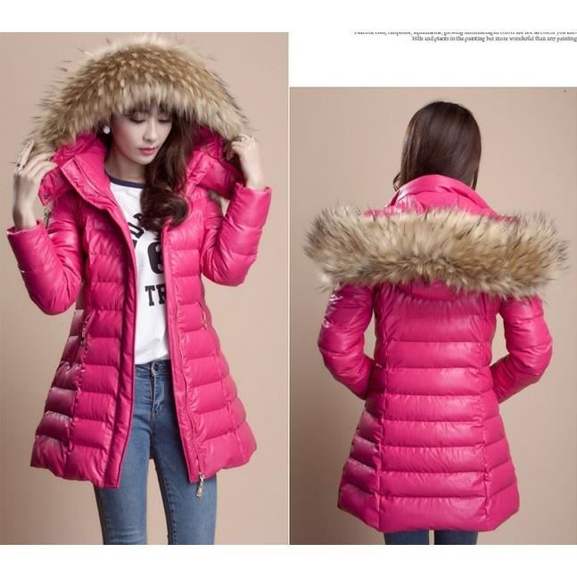 Veste doudoune femme rose