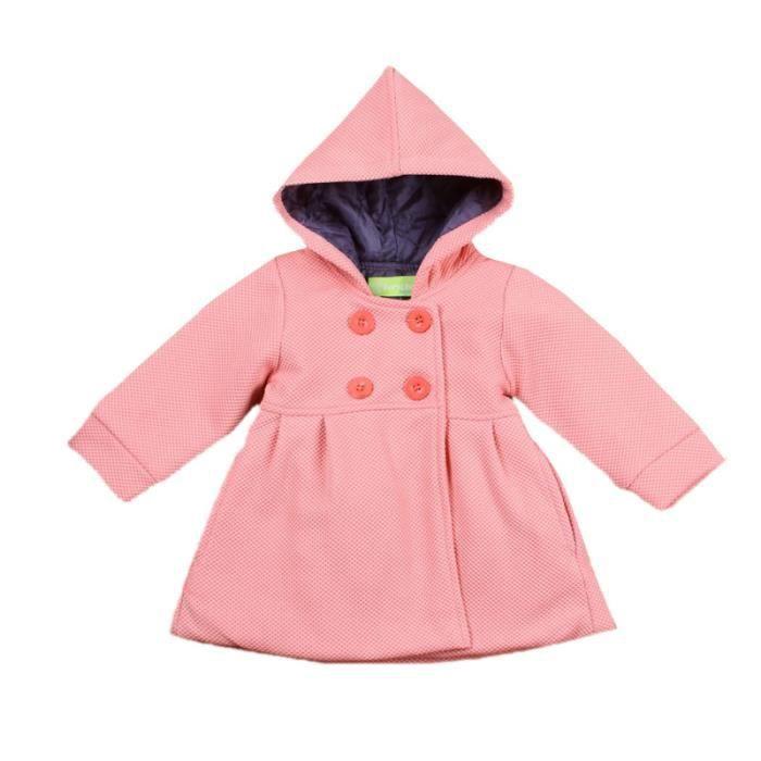 802949f94751b ROSE 0-24 Mois Filles Bébés Mandeau à Capuche Vêtement Enfants Tenue ...