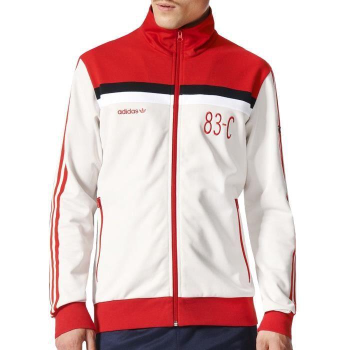 Adidas 83-C - veste de survêtement homme - blanc Blanc Blanc - Achat ... fb40a67762d