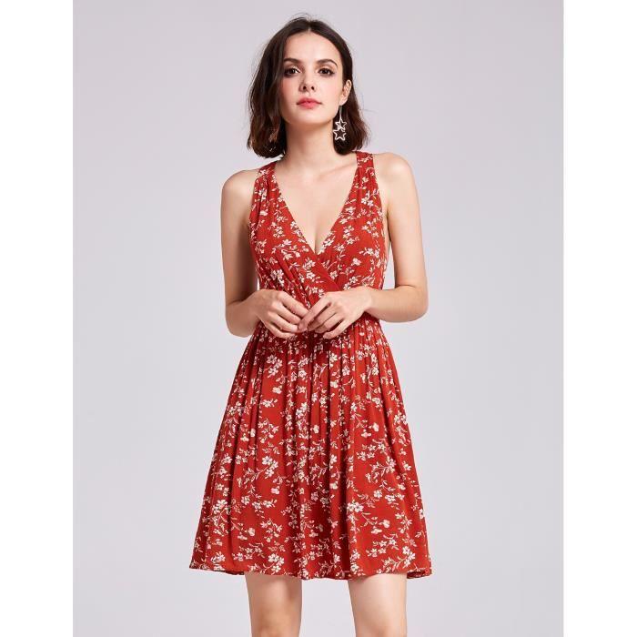 ad23d55ed6de Robe courte fleurie printemps sans manche bretelles en mousseline de soie  jpg 700x700 Robe courte fleuri