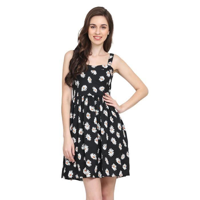 34 1nel5p Taille Achat Florale Femmes Petite Robe De Noir wnqzYACHax