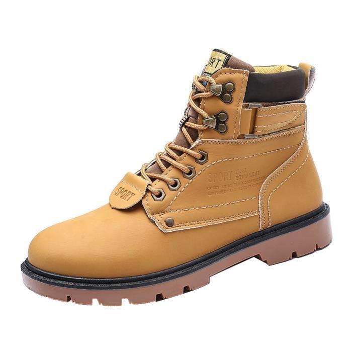 résistant l'usure extérieur HLE80904391YE46 Outillage Martin de antidérapants à Chaussures taille Bottes grande d'homme d'hiver dCBxeo