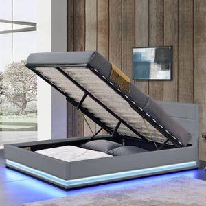 lit coffre 160x200 achat vente lit coffre 160x200 pas cher cdiscount. Black Bedroom Furniture Sets. Home Design Ideas