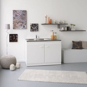 meuble sous evier avec evier 1 bac achat vente meuble sous evier avec evier 1 bac pas cher. Black Bedroom Furniture Sets. Home Design Ideas