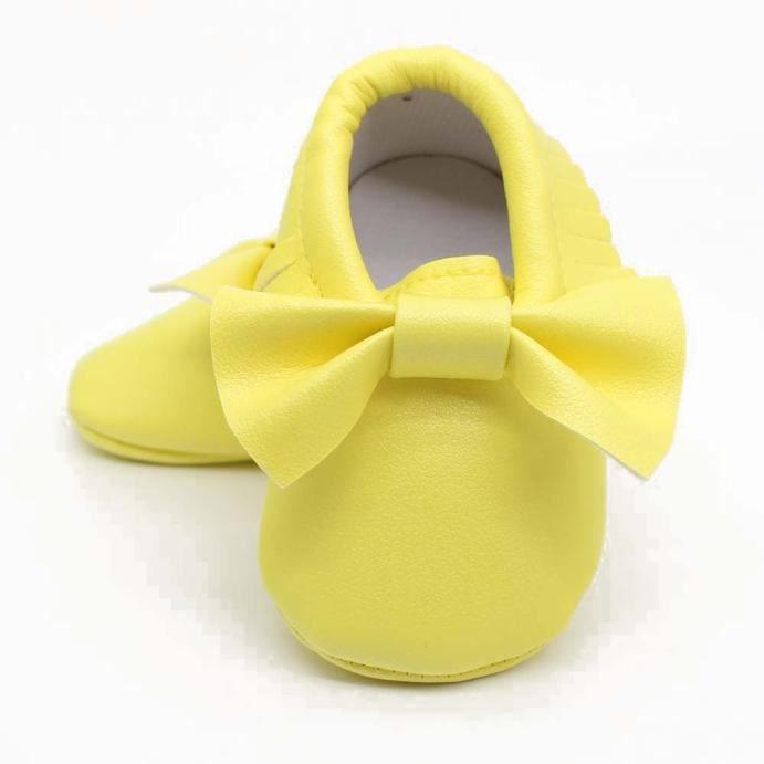 Paillettes Bb Sneakers Bas ge En Enfant Bowknot jaune Sole Glands Casual Tendre Chaussures qrExnFE1