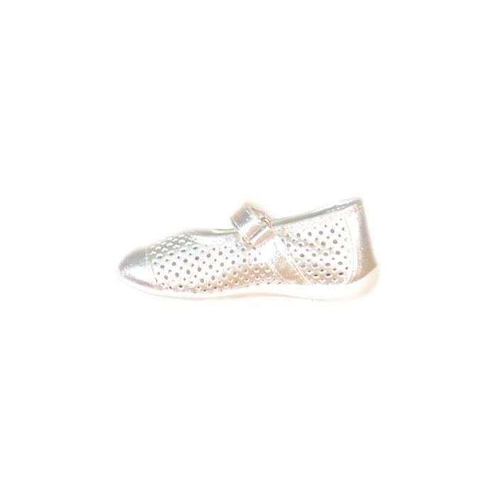 Primigi - Primigi Ballerines pour Fille Argent Cuir Toile Velcro 81430