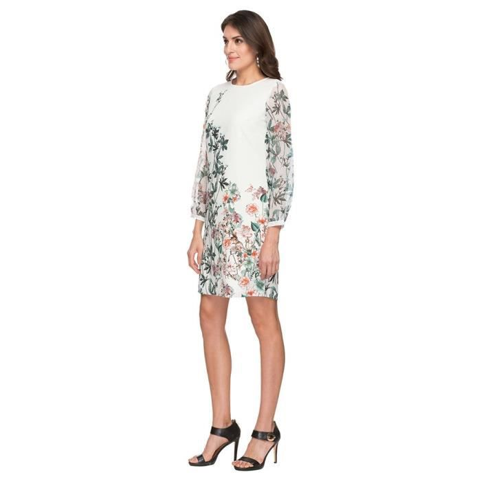 Womens By Shoppers Stop Round Neck Printed Knee Length Dress JHPZ7 Taille-32