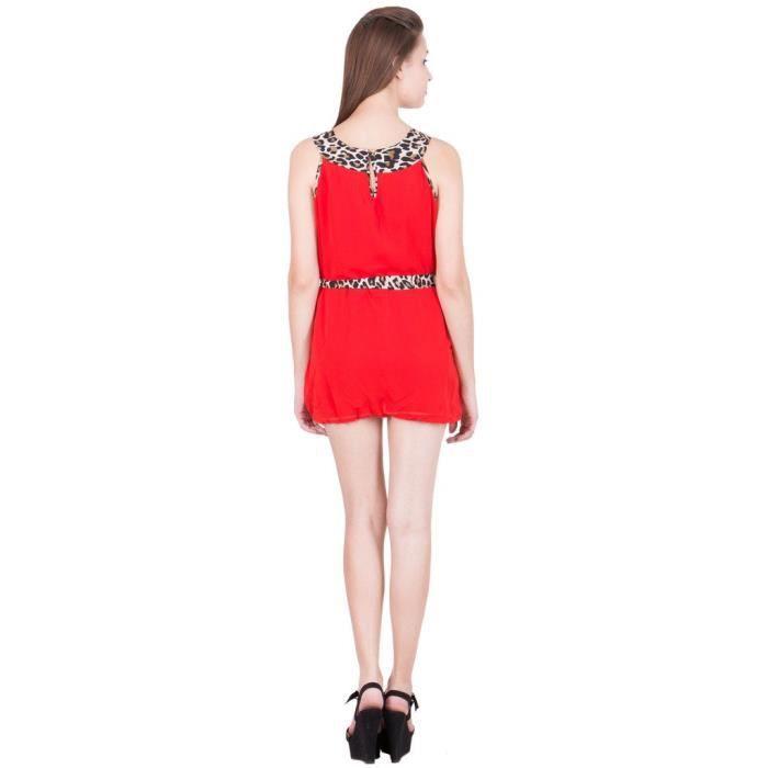Womens Light Pink Tiger Print Dress TDH9R Taille-38