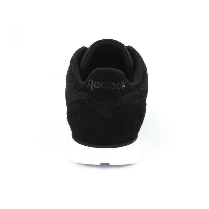 Femme Woven Baskets Reebok Noir Leather Emb Classic wU4qnAqzxX