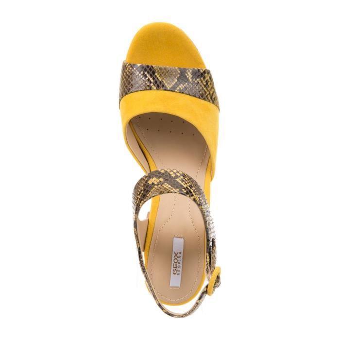 Galexia - Sandales en cuir - jaune