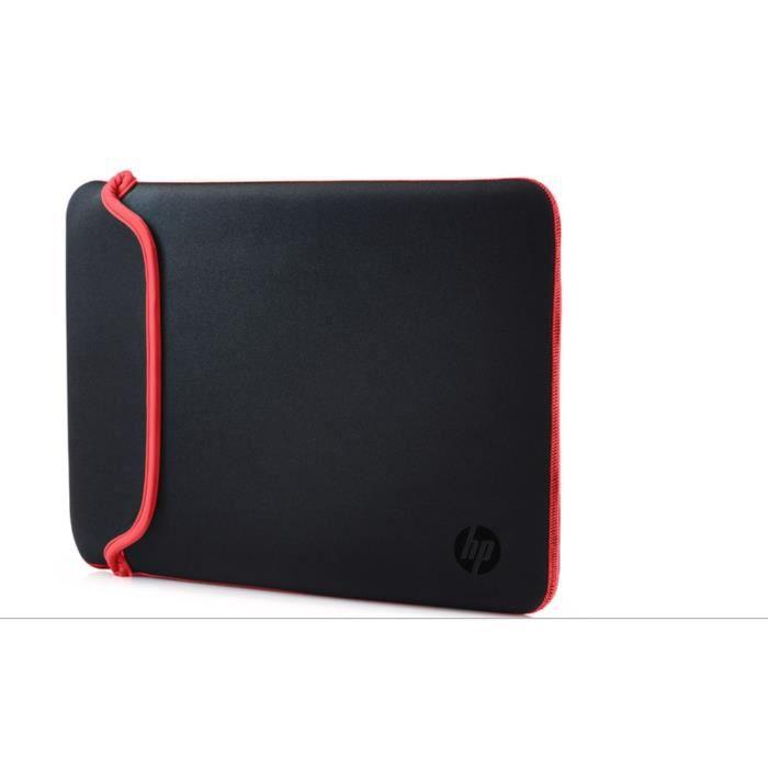 """HP 15.6"""" Housse pour ordinateur portable Noir/Rouge"""