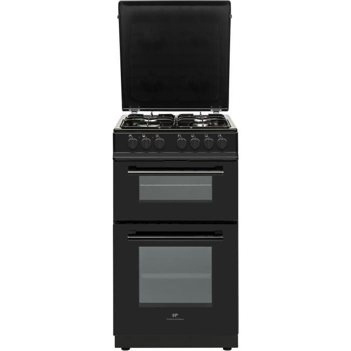 CONTINENTAL EDISON Cuisinière 50x60 Double fours électrique - 4 feux noirc