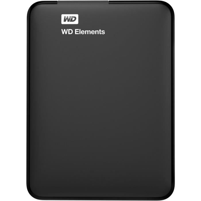 WESTERN DIGITAL Disque Dur externe Element 2.5'' - 750Go - Noir - Reconditionné à neuf