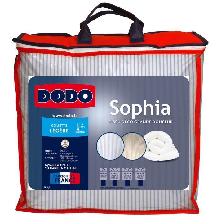 DODO Couette légère 250g/m² SOPHIA rayée 140x200 cm bleu et blanc