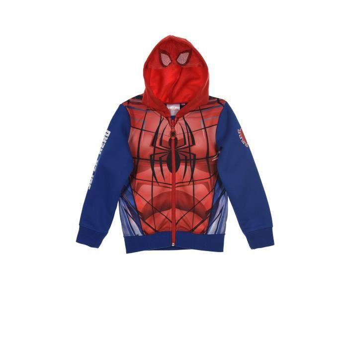 SPIDERMAN Veste Sweat Gris Enfant Garçon