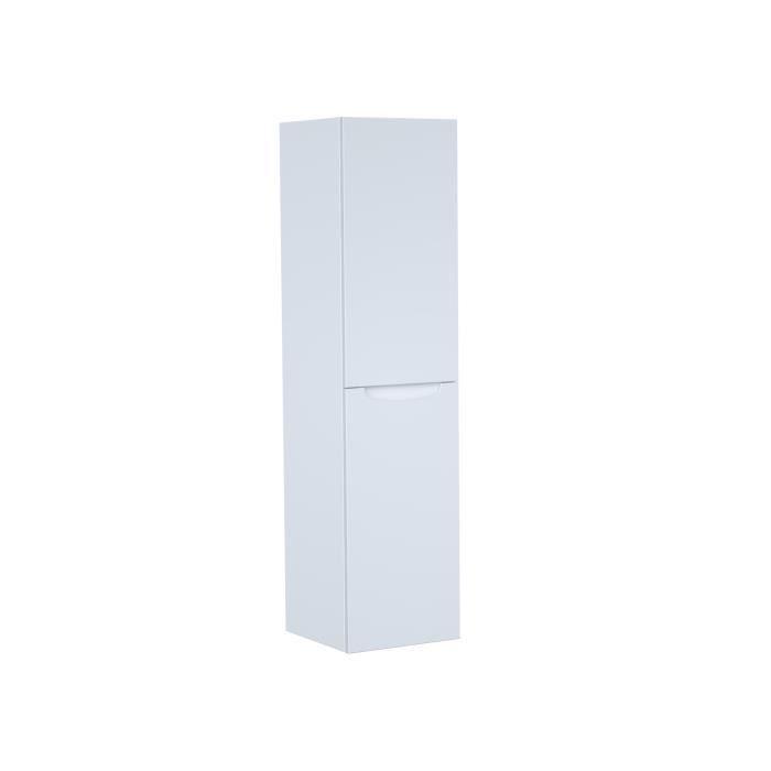 SMILE Colonne de salle de bain L 30 cm - Blanc laqué