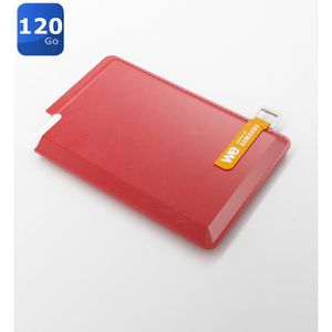 We SSD externe 120Go + Housse rouge