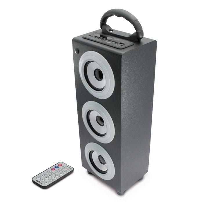 CALIBER HPG 510BT Enceinte bluetooth portable gris - Prend en charge le profil A2DP et AVRCP - Permet de lire des fichiers USB et la carte SD (jusqu'à 32Go) - Radio FM - Ecran LED - Sonorisation haute puissance ...ENCEINTE NOMADE - HAUT-PARLEUR NOMADE - E