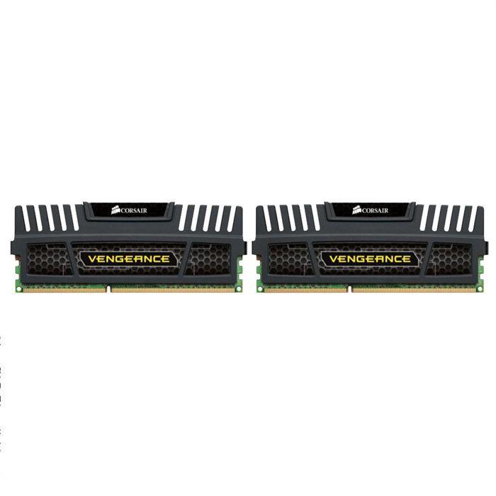 Mémoire DDR3 4 Go (2x2Go) 1600MHz - CAS 9-9-9-24 - DIMM 240 broches - 1.5V - Intel XMP - Corsair Vengeance dissipateur - Réf. CMZ4GX3M2A1600C9...MEMOIRE PC - PORTABLE