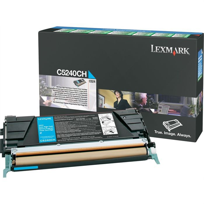 LEXMARK Cartouche toner C5240CH - 5000pages - Cyan