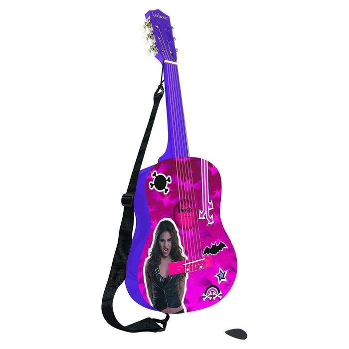 LEXIBOOK - CHICA VAMPIRO - Guitare Acoustique Enfant - Hauteur 78 cm - Apprends à jouer comme un vrai pro ! A partir de 7 ans - Fille - Livré à l'unitéIMITATION INSTRUMENT MUSIQUE