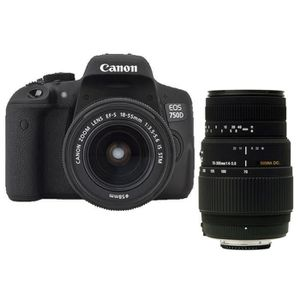 Canon EOS 750D + 18-55 + SIGMA 70-300