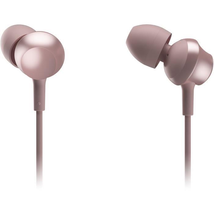 PANASONIC TCM360 Écouteurs intra-auriculaires - Micro avec bouton de prise d'appel - Rose