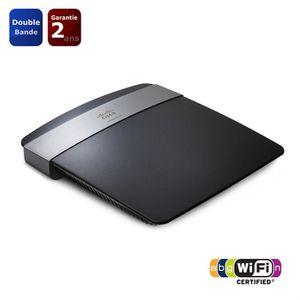 LINKSYS E2500 Routeur WiFi N600 double bande avec commutateur 4 ports Ethernet