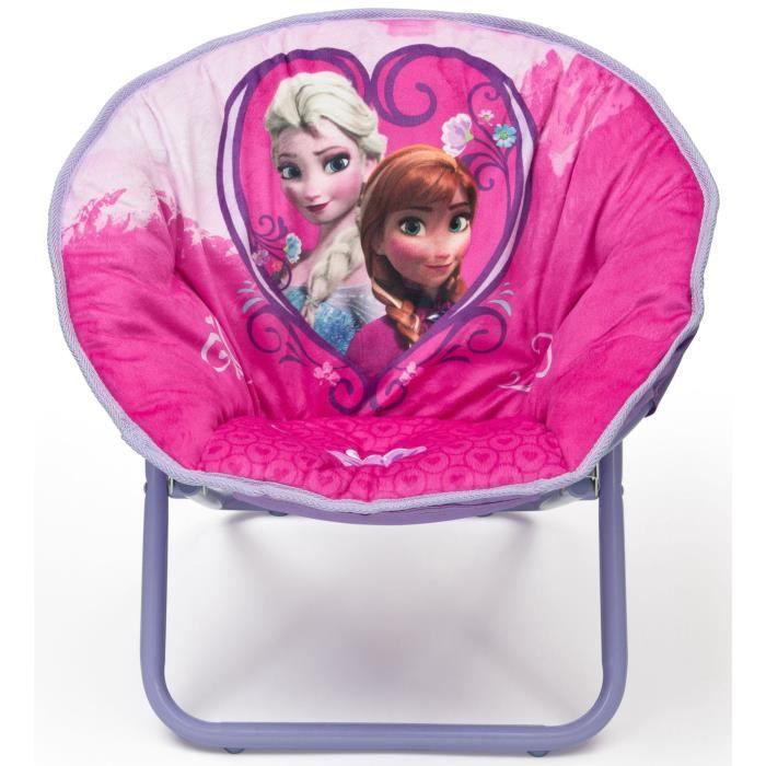 LA REINE DES NEIGES - Siège Lune Enfant - Rose et Violet - Disney