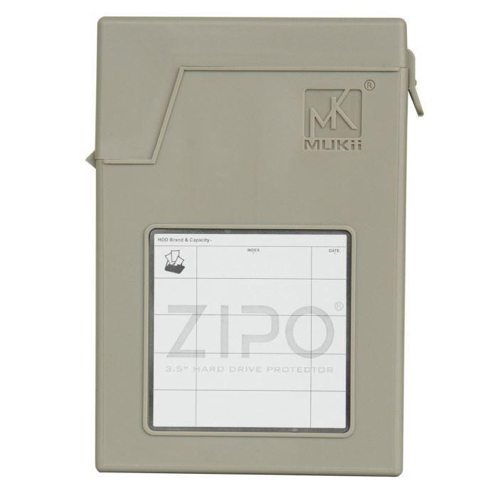 MUKII Boitier de Protection ZIPO P210-GY 2,5\