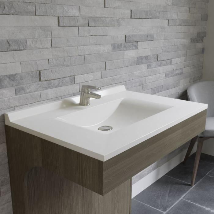 CREAZUR Plan simple vasque Blanc 80cm