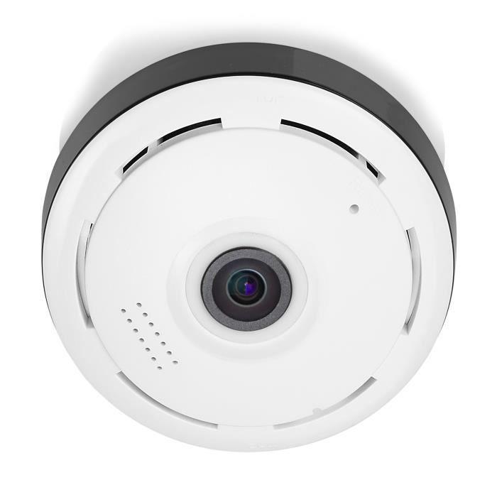 SMARTWARES Caméra de surveillance HD IP 360° à usage intérieur